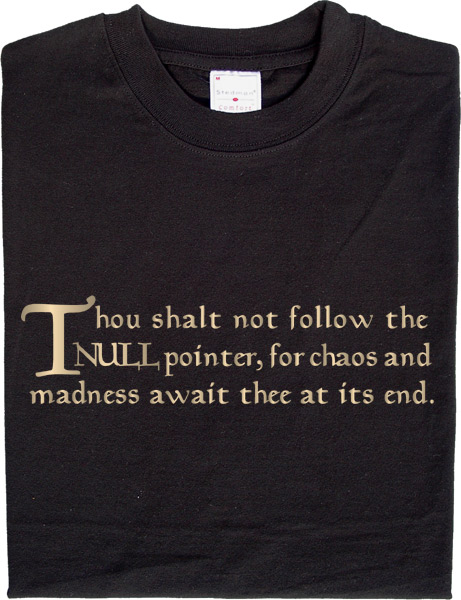 Thou shalt not follow the Null pointer