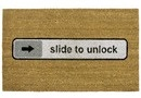 Doormat Slide to unlock