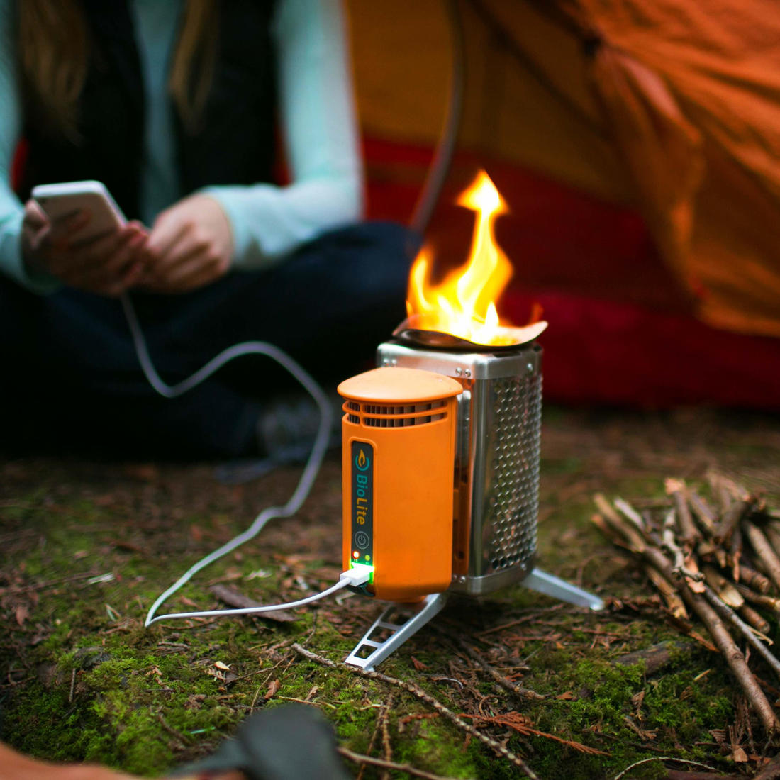 CampStove Outdoor Camping-Kocher mit USB-Ladefu...
