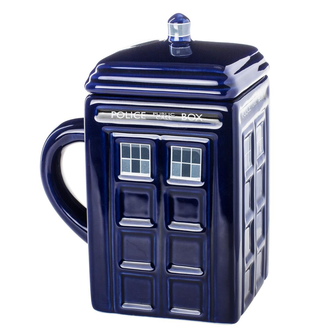 tardis tasse mit deckel getdigital. Black Bedroom Furniture Sets. Home Design Ideas