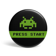 Geek Button Press Start