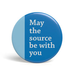 Geek Button May The Source Be With You