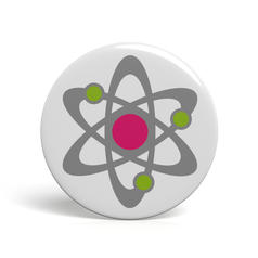 Geek Button Atommodell