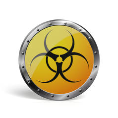 Geek Button Biohazard