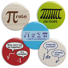 Geek Buttons Thema Mathematik