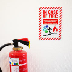 Blechschild In Case Of Fire