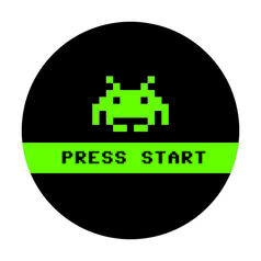 Geek Aufkleber Press Start