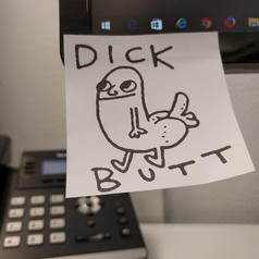 Dick Butt Motiv-Klebezettel