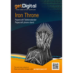 Papercraft Telefonständer Iron Throne