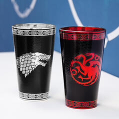 Game of Thrones Glas mit Leder-Metall-Effekt