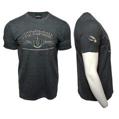 Harry Potter Quidditch T-Shirt Team Slytherin Stickerei