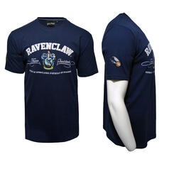 Harry Potter Quidditch T-Shirt Team Ravenclaw Stickerei
