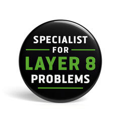 Geek Button Specialist for Layer 8 Problems