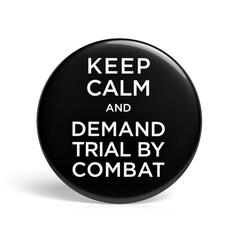 Geek Button Trial by Combat