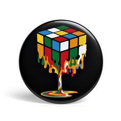 Geek Button Melting Magic Cube