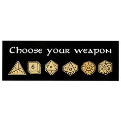 Aufkleber Choose Your Weapon