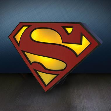 superman logo licht getdigital. Black Bedroom Furniture Sets. Home Design Ideas