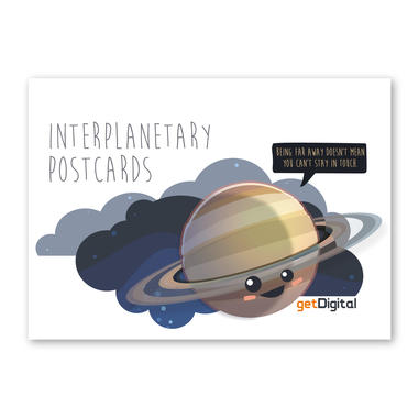 Planeten Postkarten Interplanetary Postcards