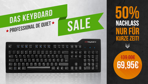 Das Keyboard S Professional: 50%-Sale