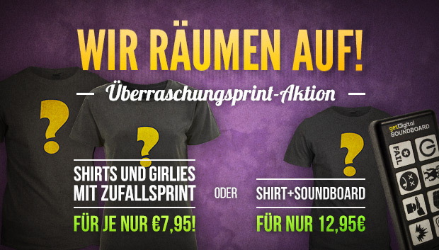 Shirt und Soundboard Sale