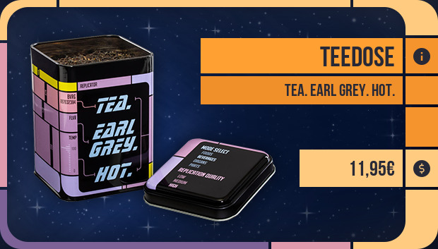 Teedose: Tea. Earl Grey. Hot.